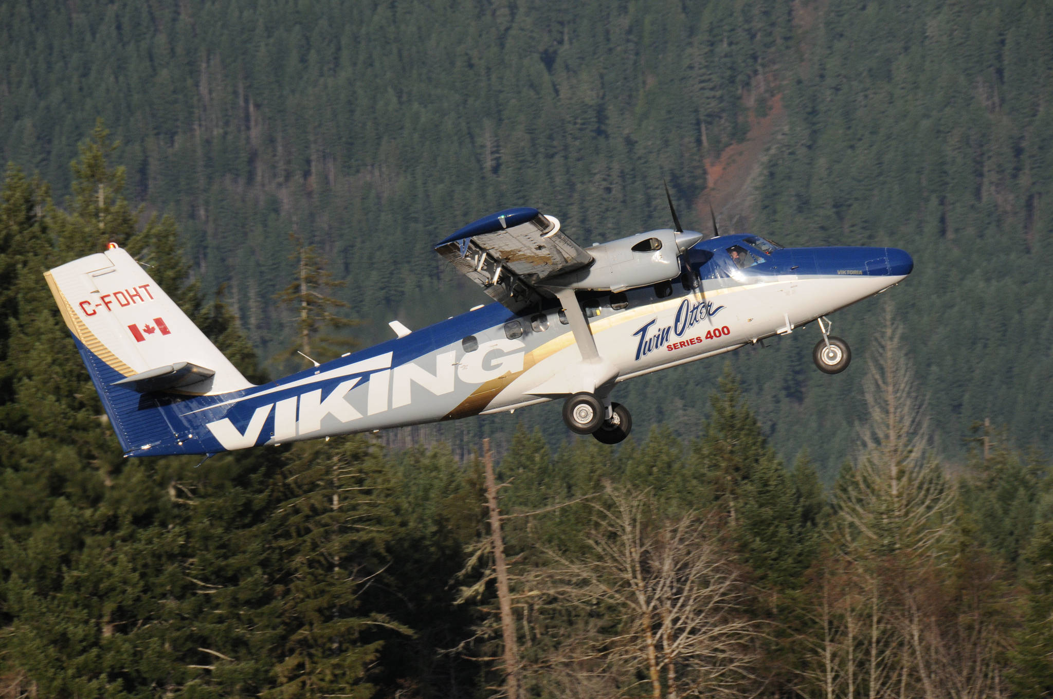 A Viking Air Twin Otter takes off on Runway 12 midway through a day of test flights on Jan. 13, 2021 at the Alberni Valley Regional Airport. Viking Air is located in Victoria. (SUSAN QUINN/ Alberni Valley News)